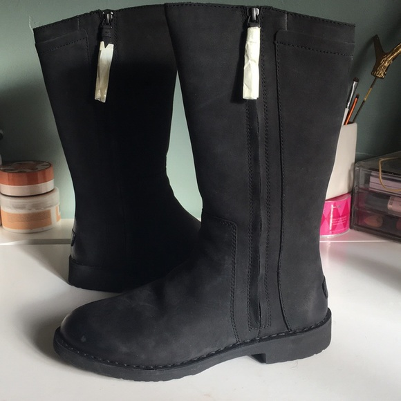 66286c8f3eb UGG Elly Nubuck Leather Water Resistant Boot